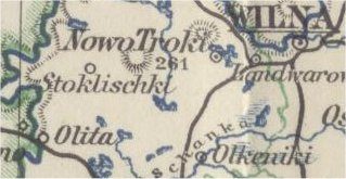 Part of the map, not resized, 'Westrussland' (Western Russia) from the encyclopedia 'Meyers Konversations-Lexicon', 6e Aufl., 1905-1909.