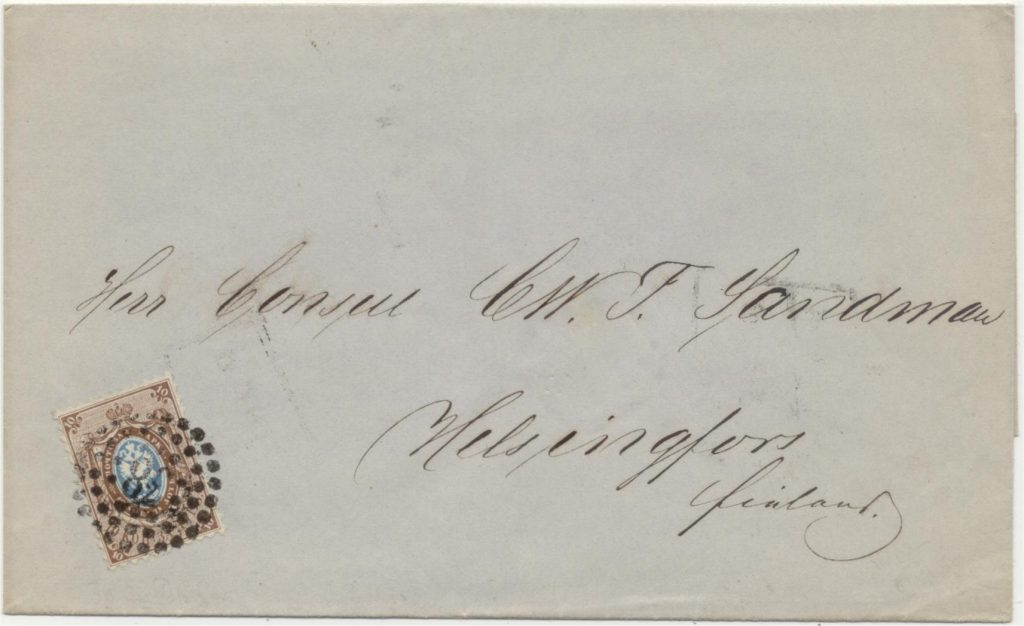 Numeral dotted postmark 38 = Riga